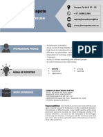 Curriculum Vitae Format Jhon Capote