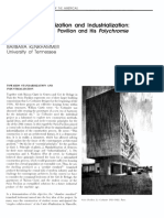 """""""Towards Standradization and Industrialization Le Corbusier's Swiss Pavilion and His Polychrome Architecturale"""