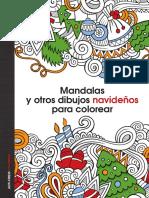 628 Mandalas y Otros Dibujos Navidenos Para Colorear