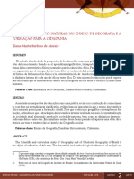 Morais Eliana Marta b. de. as Temáticas Físico Naturais No Ensino de Geografia e a Formação Para a Cidadania. Revista Virtual • Geografía Cultura y Educación
