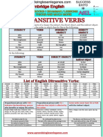 Ditransitive Verbs (List)