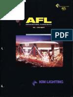 Kim Lighting AFL Series Architectural Floodlights Brochure 1996