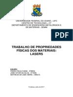 Trabalho de Propriedades Físicas - Lasers.pdf