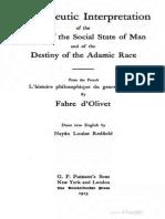 1915 Fabre Dolivet Hermeneutic Interpretation