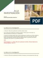 La Ética en La Investigación