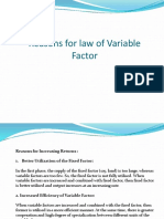 Causes of Returns to Variable Factor