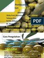 Proses Pembuatan Minyak Zaitun (OLIVE OIL )