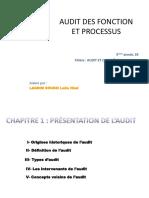 Audit Des Fonctions Et Des Processus- S9-2017_2018 CHAPITRE 1