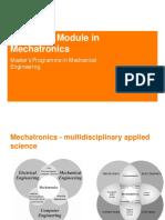Advanced Module in Mechatronics Intro
