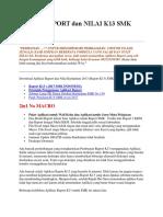 Aplikasi RAPORT dan NILAI K13 SMK Versi.docx