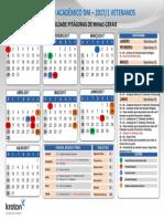 Calendário Acadêmico Minas Gerais 20171 - VETERANOS