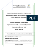 Trabajo Final Reingenieria Organizacional Jorge Escobar Ortiz Volkswagen de Mexico s.a. de c.V.