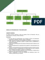 ORGANIGRAMA  y manual de organizacion y funciones (MOF)
