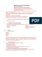 ESTRUCTURA DE PROYECTO PRÁCTICAS PRE PROFESIONALES