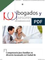Competencia Juez Familiar en Divorcio Incausado en Ciudad de Mexico – Abogados y Asesores