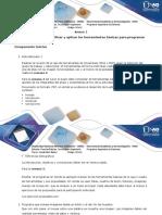 Anexo 1 Paso 1 - Identificar y Aplicar Las Herramientas Básicas Para Programar