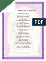 Poema Al Señor de Los Milagros