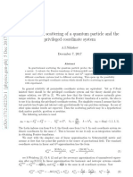 Gravitational scattering of a quantum particle and the privileged coordinate system