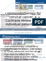 Chemo Radiotherapy for Cervical Cancer Methodological