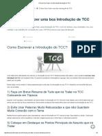 5 Dicas Para Fazer Uma Excelente Introdução Do TCC