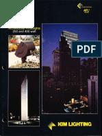 Kim Lighting AFL2 Series Architectural Floodlights Brochure 1994