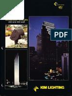 Kim Lighting AFL2 Series Architectural Floodlights Brochure 1995