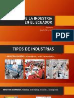 Origen de La Industria en El Ecuador