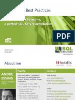 [DEUTSCH] 20160401 - SQL Saturday 494 Vienna - SQL Server Best Practices