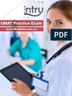 MedEntry UMAT Practice Exam Questions With Worked Solutions