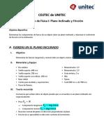 Lab2 Plano Inclinado_Fricción (Física I)