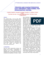 THE UPDATE PROCESS AND CHARACTERIZATION OF THE SÃO PAULO UNIVERSITY WIND-TUNNEL FOR AEROACOUSTICS TESTING