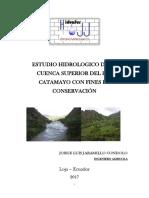 Estudio Hidrologico Cuenca Catamayo