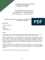 Automatização No SAP-CCS de Notas de Serviços Executadas Pelas Equipes de Campo Da Cemig Distribuição S.a CEMIG D