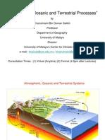 Atmospheric, Oceanic and Terrestrial Processes (Lec3)