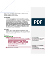 informal report second draft