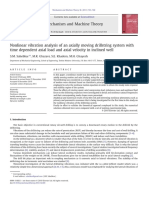 Nonlinear Vibration Analysis of an Axially Moving Drillstring System With Time Dependent Axial Load and Axial Velocity in Inclined Well