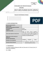 Estructura de Proyecto Escolar 2016-2017