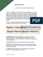 Etapas de La Regionalización