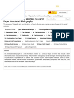 Annotated Bibliography - Organizing Your Social Sciences Research Paper - Research Guides at University of Southern California