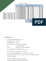Perhitungan Tebal Lapis Tambah Benkelman Beam