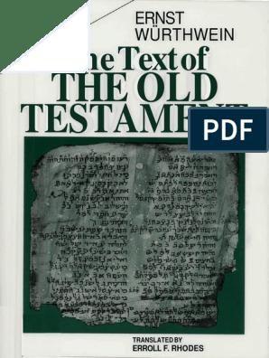The Text of the Old Testament - Ernst Würthwein   Septuagint