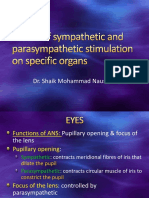 7.Effects of Sympathetic and Parasympathetic Stimulation on Specific