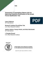 Assessment of Assembling Objects Test