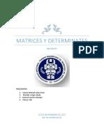 Matrices y Determinates