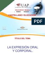 Castellano I- La Expresión Oral