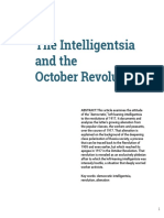 Intelligentsia and the October Revolution