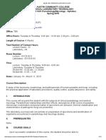 0001 Parasitology Mycology Syllabus