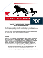 To Canadian Horse Defence Coalition Releases Draft