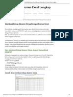 Membuat Rekap Absensi Siswa Dengan Rumus Excel - Rumus Excel Lengkap