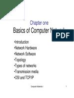 Chapter I- Basics of Computer Network